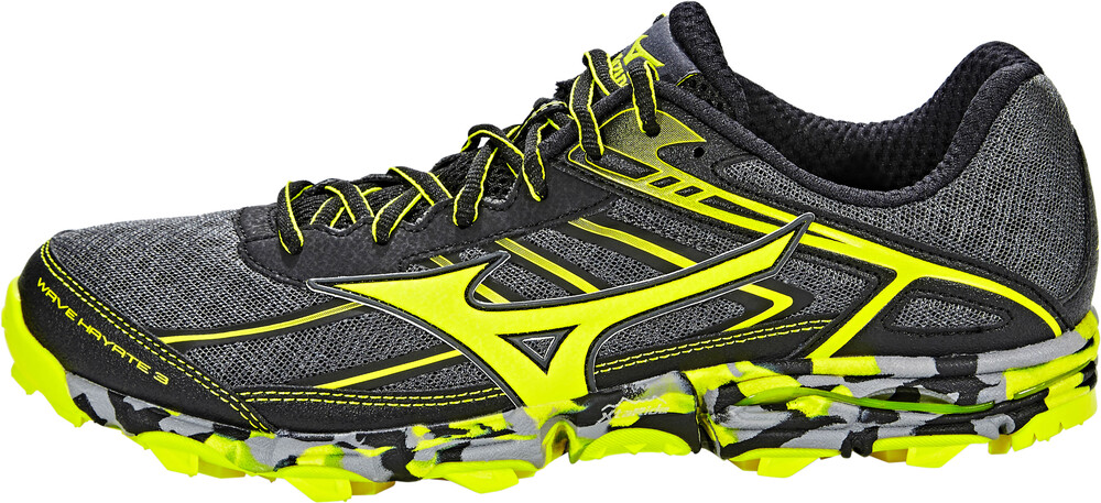Mizuno Wave Hayate 3 Chaussures De Course Hommes Jaune / Gris 2017 46 Chaussures De Trail Running Bk91N5N5